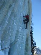 Rock Climbing Photo: Loch Vale Ice - Loch Ness Monster (Crystal Meth). ...