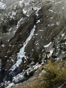 Rock Climbing Photo: The North Gully in a very low snowfall season. 1.1...
