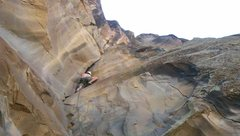 Rock Climbing Photo: Dave Mills enjoying Guillotine climbing.
