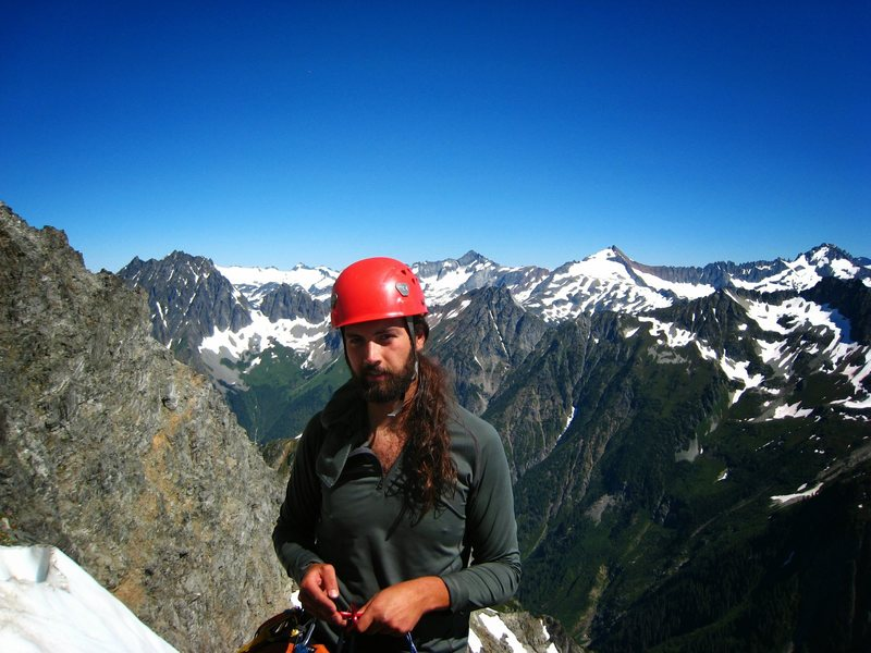 Rock Climbing Photo: midway up Mt. Formidable's NE Face