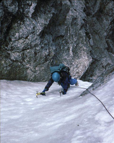 Gina B. nearing top of the BIC. 1994.