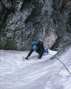 Rock Climbing Photo: Gina B. nearing top of the BIC. 1994.