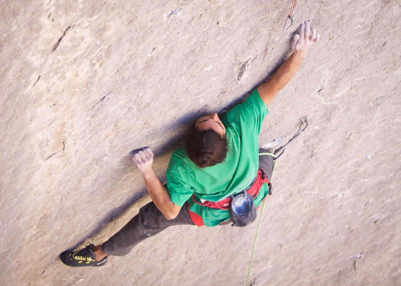 Rock Climbing Photo: Lonnie Kauk, (the FA'ist; thanks to T. Graham for ...