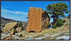 Rock Climbing Photo: Cyclops problem beta.
