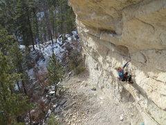Rock Climbing Photo: Luke Ross, after the toss.
