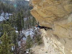 Rock Climbing Photo: Redpoint crux