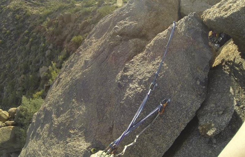 Rock Climbing Photo: Two great bolts on top of this climb.  While the b...