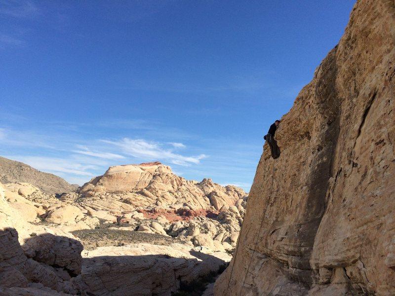Rock Climbing Photo: Clipping the anchor.