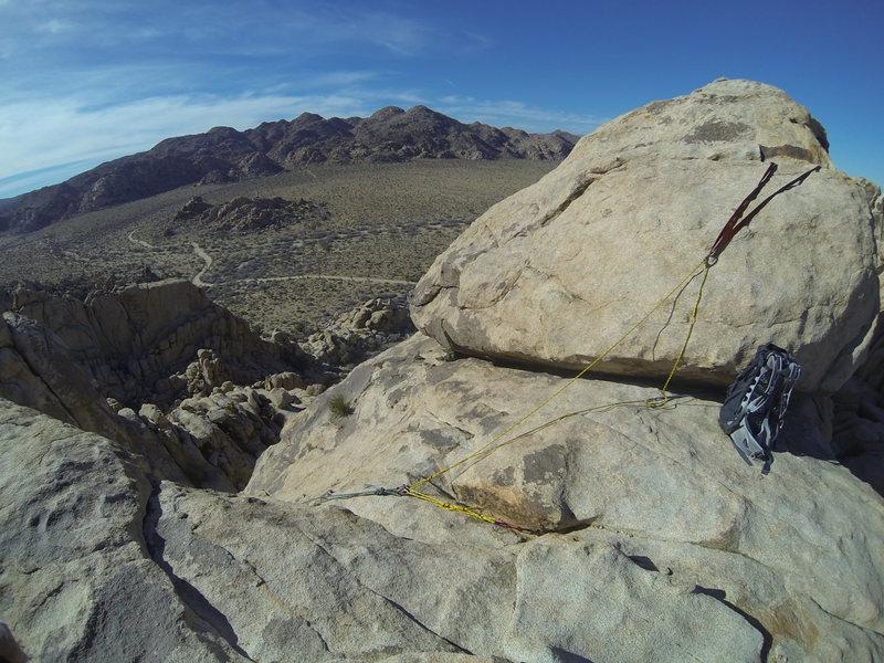 Rock Climbing Photo: Top rope setup