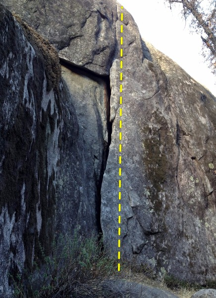 Rock Climbing Photo: The easy start of Jam is shown here, the little fu...