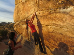 Rock Climbing Photo: Margaret on Gunsmoke.