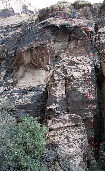 Rock Climbing Photo: the line of Swine Tasting
