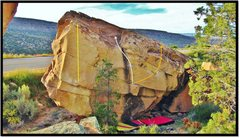 Rock Climbing Photo: Falls From Above east face problems.  Bedside Mann...