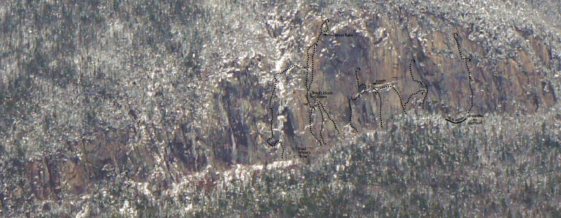 Rock Climbing Photo: These routes have been climbed free and clean. Sev...