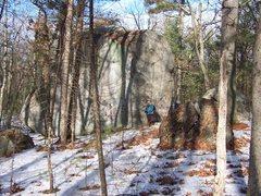 Rock Climbing Photo: The largest boulder.