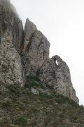 Rock Climbing Photo: Crescent Moon Buttress (5.10a) climbs the right sk...