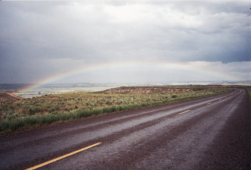 Rainbow over Antelope Island, Utah