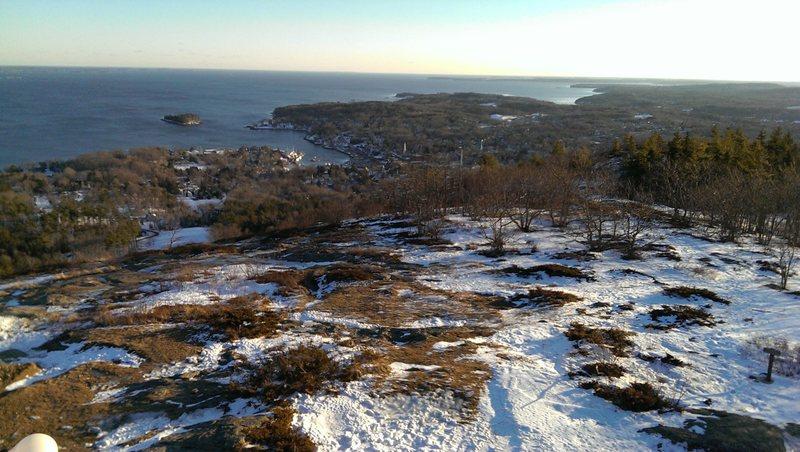 View from summit of Mt. Battie