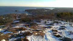 Rock Climbing Photo: View from summit of Mt. Battie