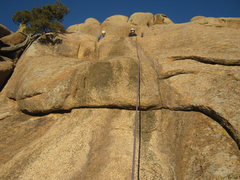 Rock Climbing Photo: 5.5 crux on second pitch.