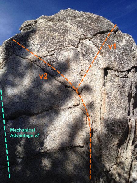 Mechanical Advantage Boulder, uphill side