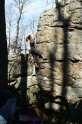 Rock Climbing Photo: Rachel on Prototype Arete at the Litz area on the ...