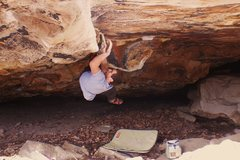 Rock Climbing Photo: Micah on Spinal Remains in the Barbeque Babies Cav...