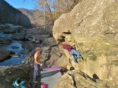 Rock Climbing Photo: Rachel on the Dropknee Squared Project at CSX on t...