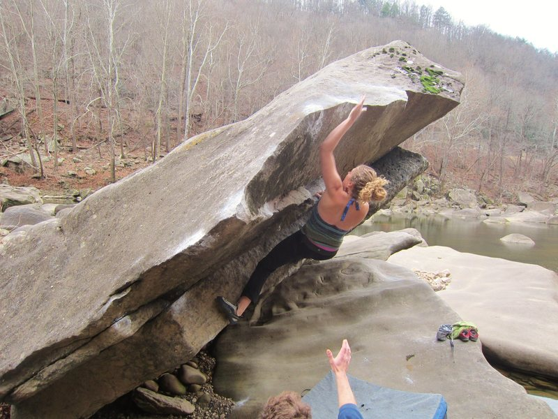 Caitlin on an Unnamed (I think) problem. V1/2? Need more consensus here. Really fun.