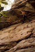 Rock Climbing Photo: Louis on an unnamed 5.11 at South Park on the Mead...