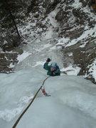 Rock Climbing Photo: Deb enjoys the conditions.