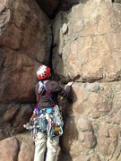 Rock Climbing Photo: Tommy (over)racked and starting Killian's Dead.  A...