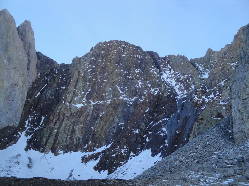 A view showing Deception in relation to the north buttress of Mount Morrison.