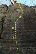 Rock Climbing Photo: Drop double D's Dirrect does not use the left crac...