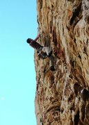Rock Climbing Photo: Daryl doing the last few moves. Great Route!