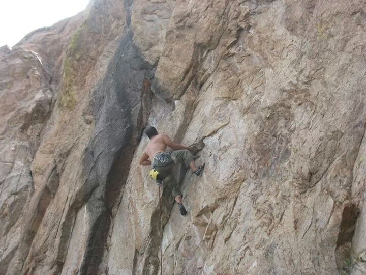 Start of the first crux