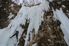 Rock Climbing Photo: Steve R. following Jon J's stout lead of Quarry Mo...