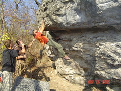 Rock Climbing Photo: One of the harder problems.  Put up in the 80's in...