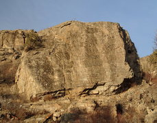Rock Climbing Photo: OTIC Rock from the S approach trail in mid January...