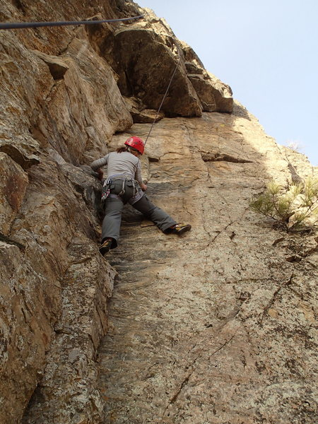 Rock Climbing Photo: Climber on Sleight of Hand