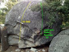 Rock Climbing Photo: End of Boulder K
