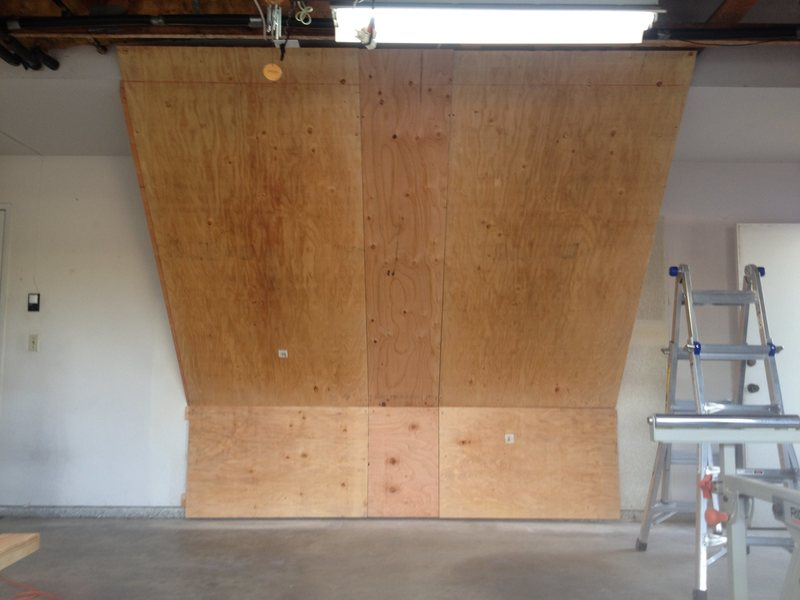 Plywood up to snap chalk lines and figure out final cuts