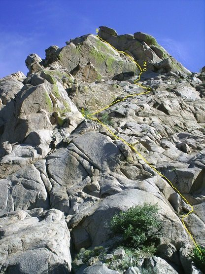 Rock Climbing Photo: The three-star version. Original photo Aaron Hobso...
