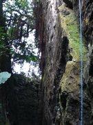 Rock Climbing Photo: Crack climb on Big Sky wall