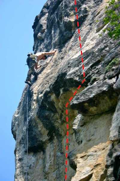 Rock Climbing Photo: right line