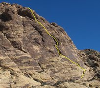 Rock Climbing Photo: One version of this line