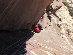 Rock Climbing Photo: Jesse in the dihedral