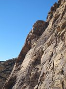 Rock Climbing Photo: Clayton leading, Aaron and Martin below