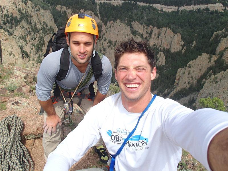 On top of the NW Ridge of the Thumb, wonderful climb