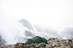 Tent sight night before climb